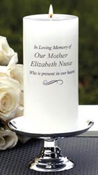 Personalized Wedding Memorial Candle and Stand