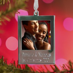 Personalized Engraved Photo Christmas Ornament