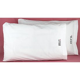 """""""Together At Last"""" Mr. And Mrs. Pillowcases - Wedding Honeymoon Gift"""