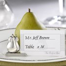 "Set of 4  ""The Perfect Pair"" Silver Wedding Reception Placecard Holders"