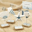 "Set of 4 ""Nantucket Shore"" Handcrafted Wooden Photo & Placecard Holders Wedding Favors"