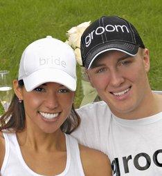 Bride & Groom Hat Set