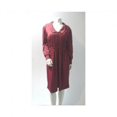 Vintage Red Plaid Shirt Dress