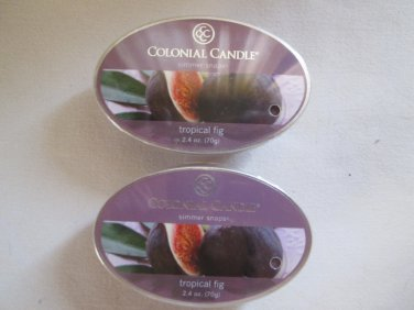 "2 Colonial Candle Simmer Snaps""TROPICAL FIG"" 2.4 oz wax melts/ tarts"