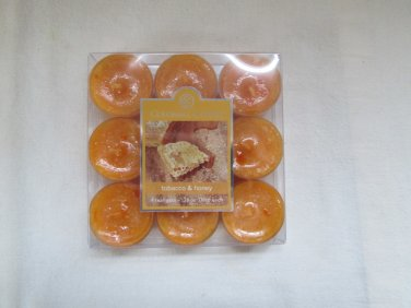 Colonial Candle ~~TOBACCO & HONEY~~Scented Tea Lights 9/ pack New
