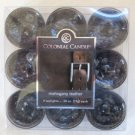 Colonial Candle ~~MAHOGANY LEATHER~~Scented Tea Lights 9/ pack New