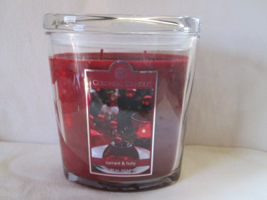 Colonial Candle 22 oz ~CURRANT & HOLLY~ Scented Jar Candle