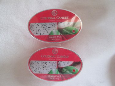 """2 Colonial Candle Simmer Snaps""""DRAGON FRUIT"""" 2.4 oz wax melts/ tarts"""