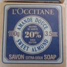 L'Occitane SWEET ALMOND 20% Shea Soap 3.5 oz Rare