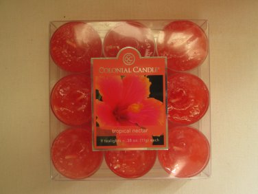 Colonial Candle ~~TROPICAL NECTAR~~Scented Tea Lights 9/ pack New