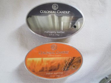 """2 Colonial Candle Simmer Snaps""""""""2.4 oz wax melts/ tarts"""