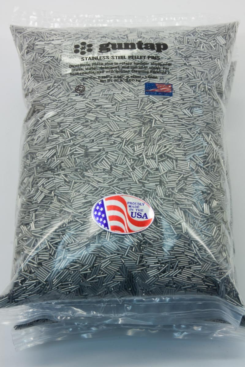 """20 Pounds Stainless Steel Tumbling Media Pins 20lb .047"""" x .255"""" (1.19mm x 6.48mm)"""