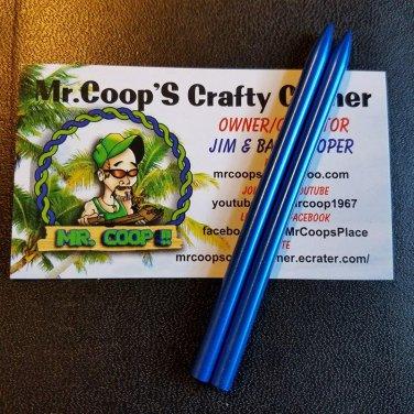 "2 Pack - 3 1/2"" 550lb Stitching Needles ~ Blue"