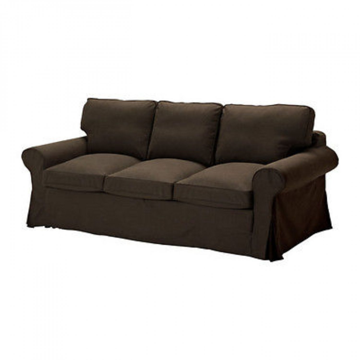 Ikea ektorp pixbo 3 seater sofa bed svanby brown for Ikea sofa slipcovers discontinued