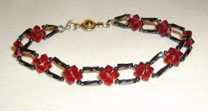 crystal flowers bracelet