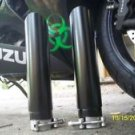 SUZUKI EXHAUST,,,, 02-07 BLACK TURBO TIPS