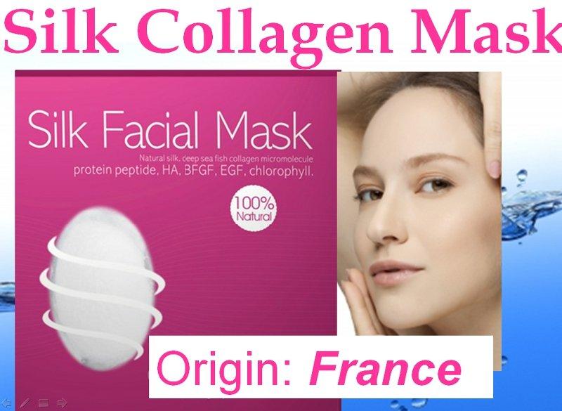 Silk Collagen Face Facial Mask Anti-ageing Natural Sensitive Skin France