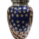 Large Size USA Flag Stars and Stripes Funeral Adult Memorial Urn For Human Ashes