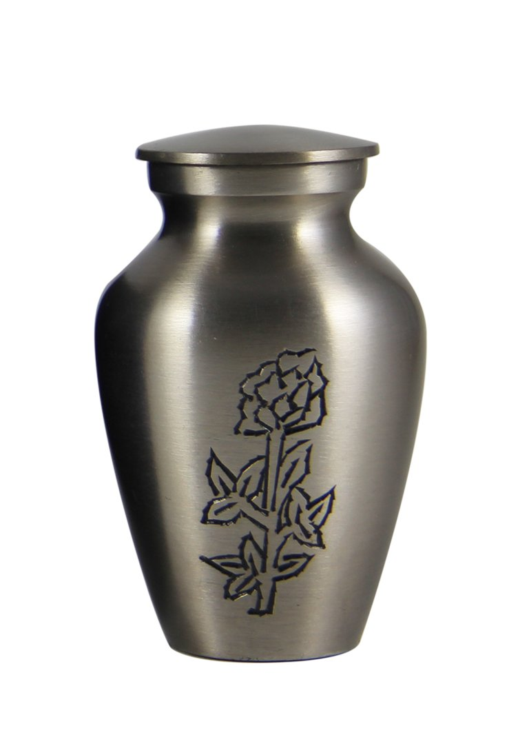 Rose Engraved Keepsake Urn for Memorial Ashes