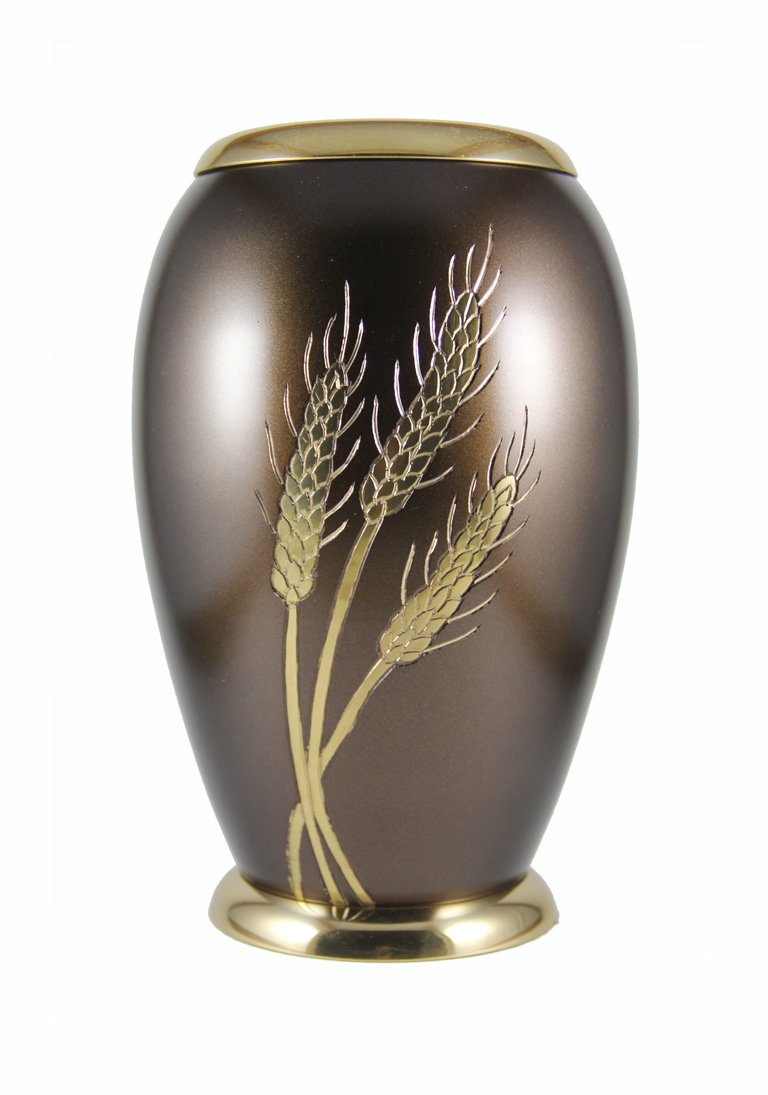 Large Size Wheat Adult Memorial Cremation Urn For Adult Ashes