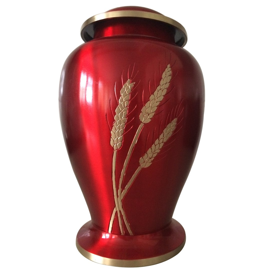 Large Size Autumn Harvest Red Color Adult Cremation Urn For Human Ashes
