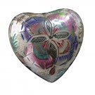 Small Size Lattice Floral Heart Keepsake Funeral Urn For Ashes Available With Stand