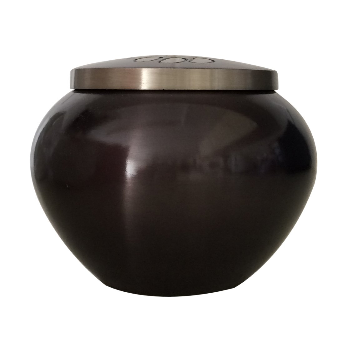 Medium Size Classic Round Paw Print Pet Memorial Urn For Pet Ashes USA
