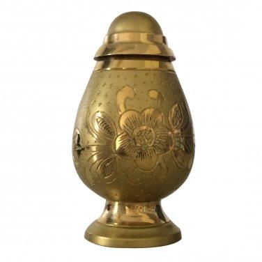 Engraved Silver And Gold Keepsake Urn Ashes, Cremation Urns