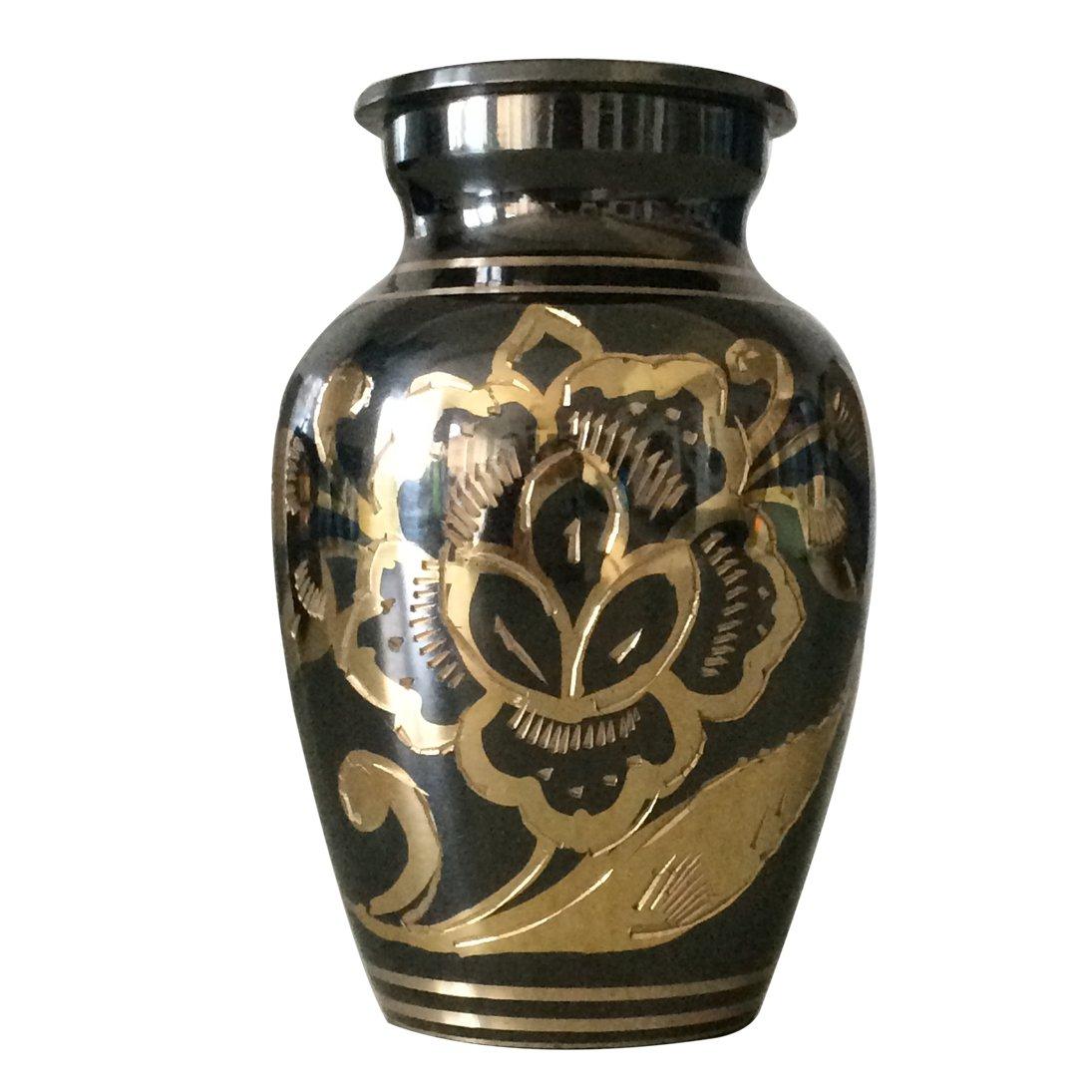 Classic Nickel Black Keepsake Urn, Funeral Urns