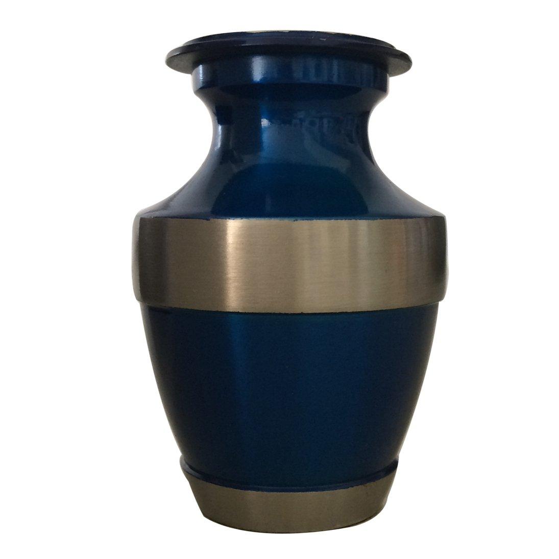 Lineas Rustic Sage Keepsake Cremation Brass Urn with Velvet Box