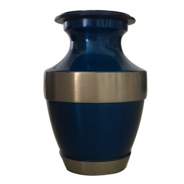Lineas Rustic Sage Keepsake Cremation Brass Urn with Velvet Box