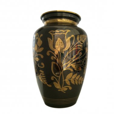 Engraved Classic Nickel Adult Urn for Ashes