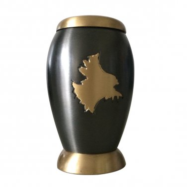 Small Size Falcon Landing Keepsake Memorial Urn For Ashes With Velvet Box