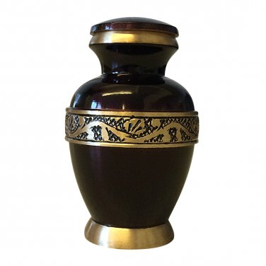 Classic Imperial Purple Keepsake Urn, Mini Cremation Urns for Ashes