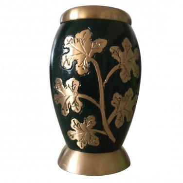 Ivy Leaves Green Color Keepsake Urn, Mini Cremation Urns for Ashes