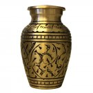 Gold Leaves Small Keepsake Urn, Mini Cremation Urns for Ashes