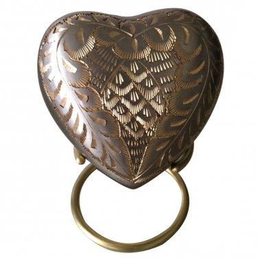 Elegance Platinum Heart Keepsake Urn with Stand
