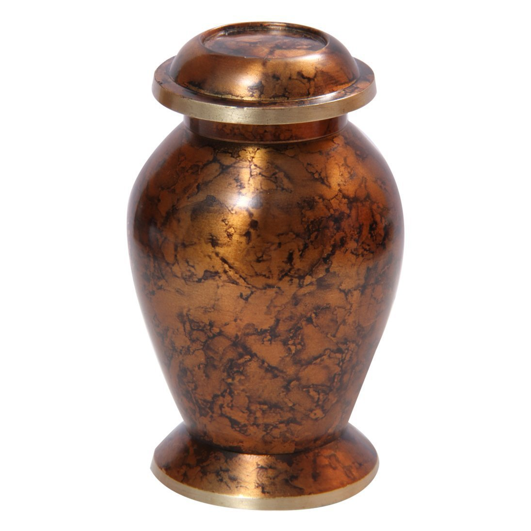 Plain Clay Brown Small Keepsake Urn for Ashes, Personalised Cremation Urns