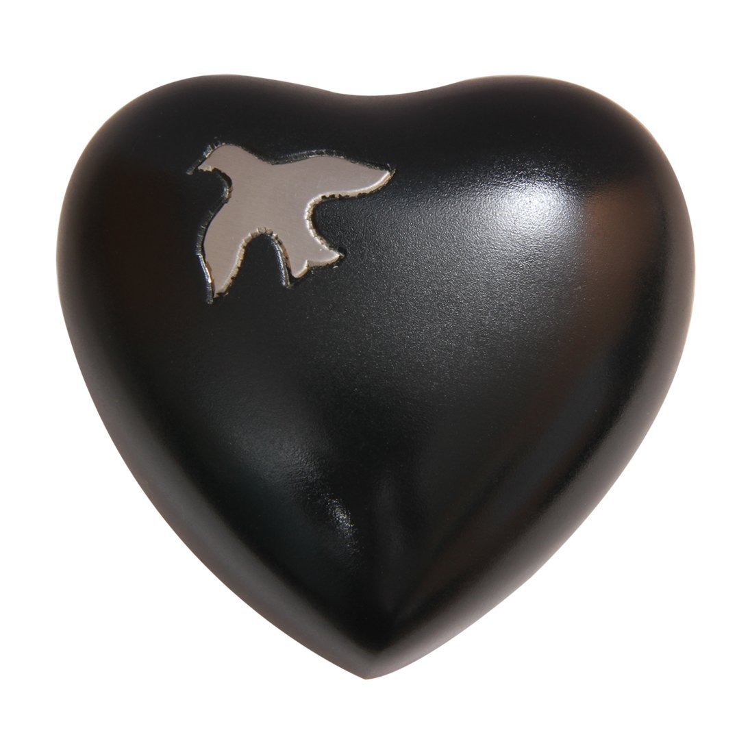 Aria Ascending Dove Heart Keepsake Urn Ashes, Funeral Heart Urns
