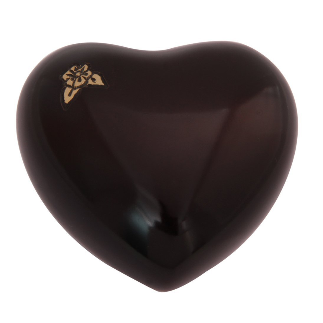 Maroon Artisan Mini Heart Keepsake Urn, Flower Cremation Urns Ashes