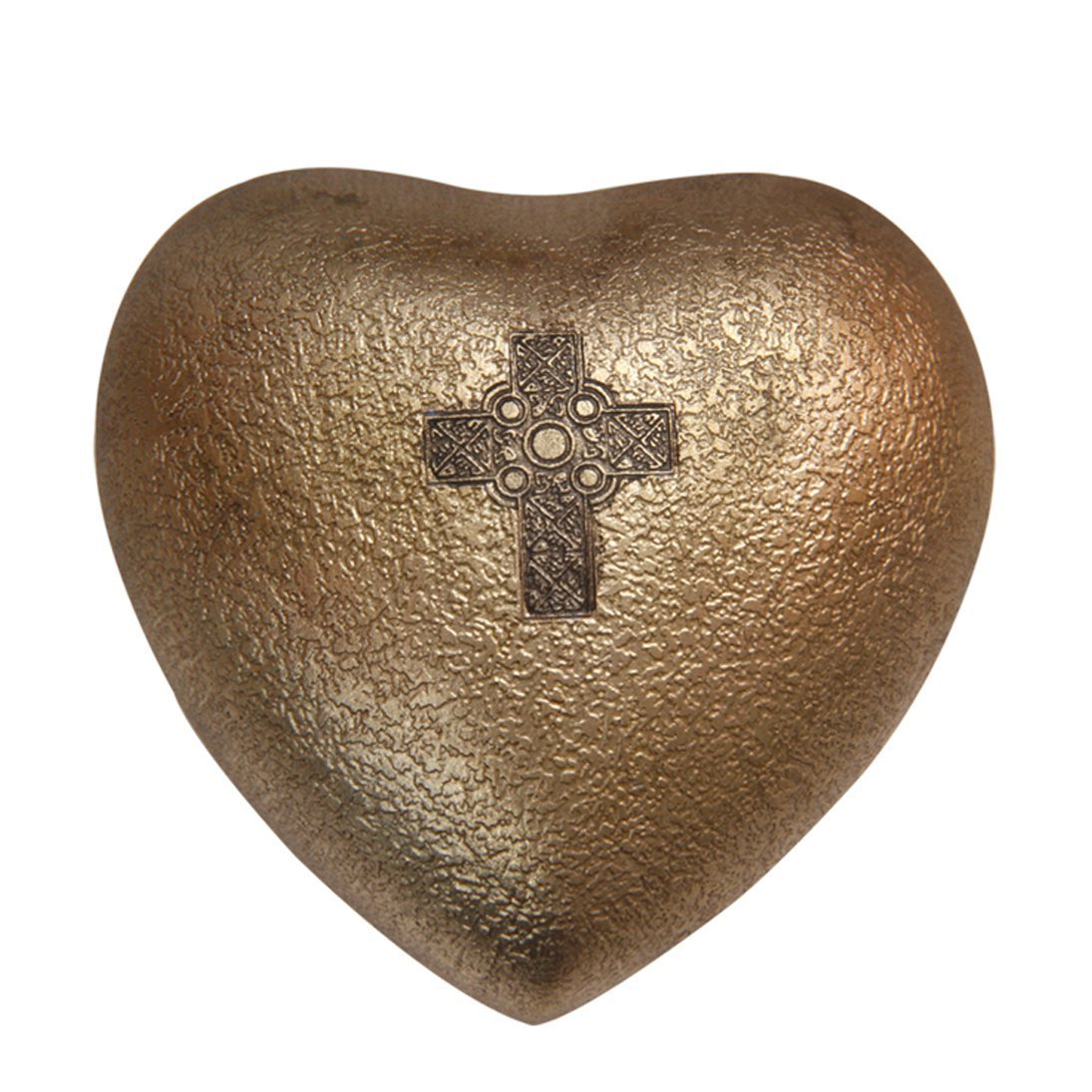 Celtic Cross Mini Heart Keepsake Urn for Human Ashes, Cross Memorial Urns
