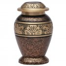 Copper Marble Small Keepsake Funeral Urn, Brass Cremation Urn for Ashes USA