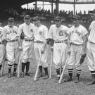 New 5x7 Photo: Lou Gehrig & Joe DiMaggio and other All-Star Baseball Sluggers