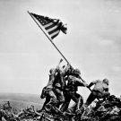 New 5x7 World War II Photo: Raising the U.S. Flag on Mount Suribachi, Iwo Jima