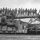 New 5x7 World War II Photo: Captured German 274-mm Railroad Gun, 1945