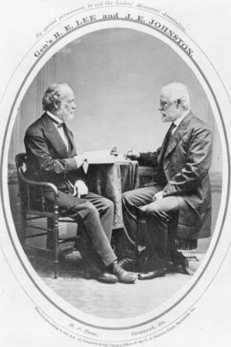 New 5x7 Photo: Confederate Generals Robert E. Lee & Joseph Johnston