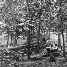New 5x7 Civil War Photo: Federal Breastworks on Culp's Hill, Gettysburg