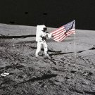 New 5x7 NASA Photo: Astronaut Pete Conrad Unfurls Flag on the Moon, Apollo 12