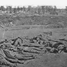 New 5x7 Civil War Photo: Confederate Dead in front of Battery Robinette, Corinth