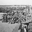 New 5x7 Civil War Photo: Ordnance Depot on Morris Island, South Carolina